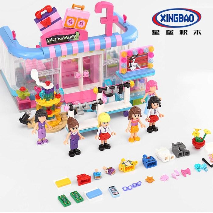 국내풀박스 싱바오 중국프렌즈 패션매장 XB-12010 시티걸 옷가게 상점 레고호환되는 중국블럭