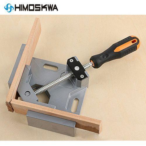 [해외] 알루미늄 단일 핸들 90도 직각 클램프 각도 클램프 목공 프레임 클립 직각 폴더 도구, Angle Clamp