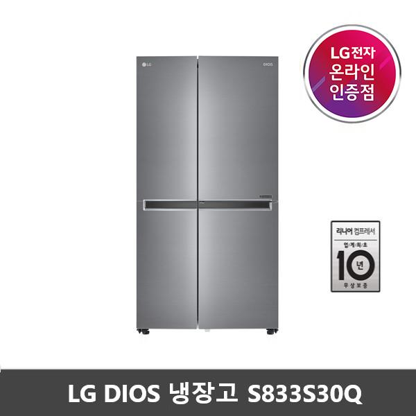 [LG공식인증점]LG전자 디오스 양문형냉장고 S833S30Q DA
