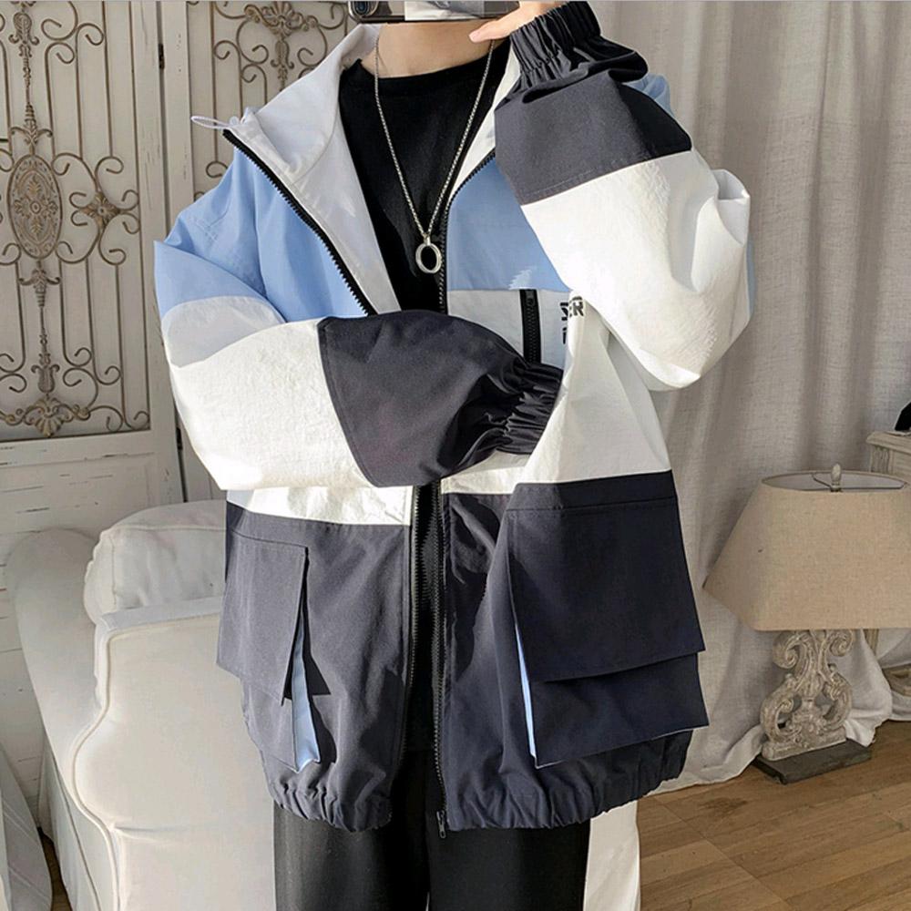 예스라인 파스텔 오버핏 공용 바람막이점퍼 루즈핏 빅사이즈 남성용 여성용