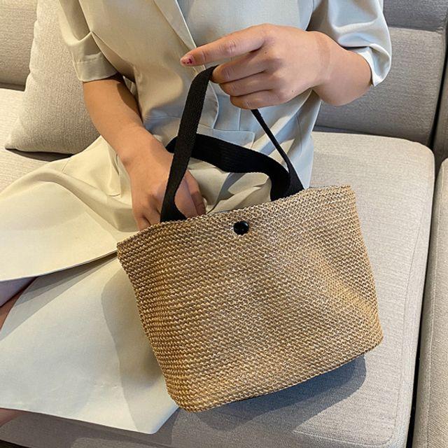 데일리 라탄 에코백 핸드백 쇼퍼백 가방 ( 30대 20대 여자가방 브랜드 W6E0141)