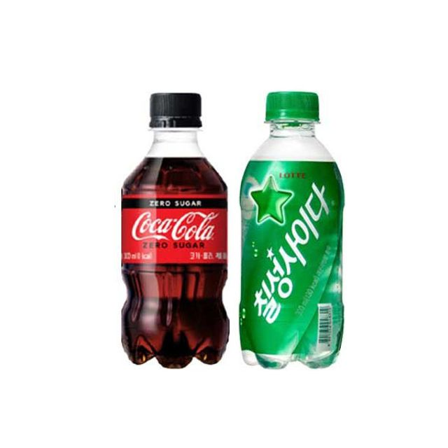 drink DAE 코카콜라제로 칠성사이다 300ml X 각3개(총6개) dgs3_2404, 단품