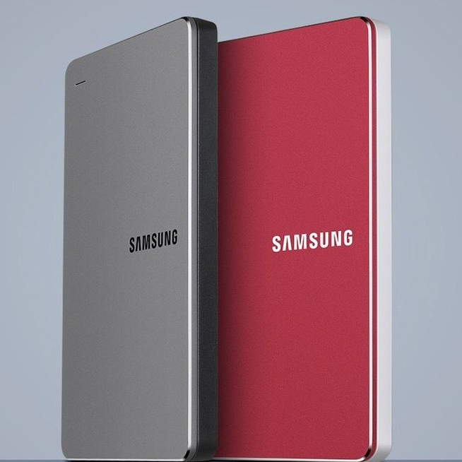 삼성 외장하드 슬림 1테라 2테라 휴대용 2.5 USB3.0 Slim 1TB 2TB HDD, 레드