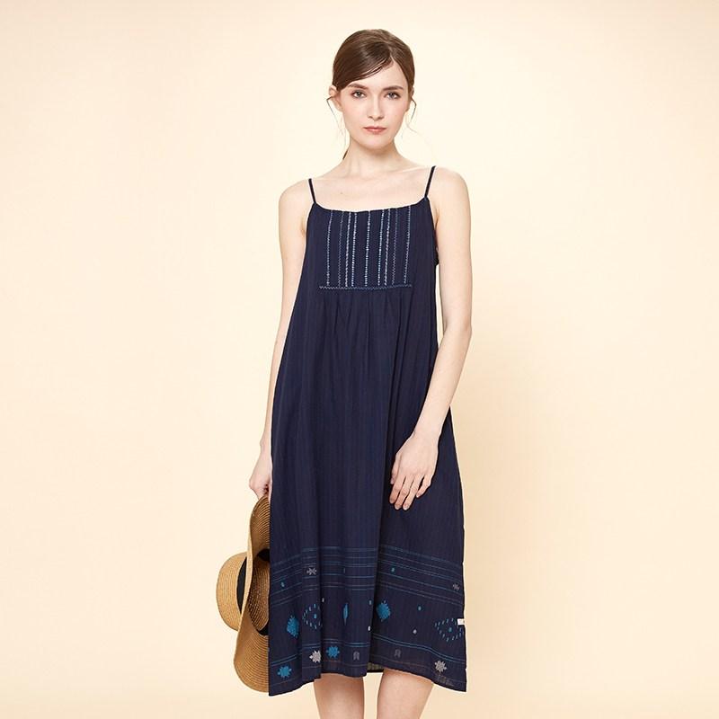 목화 스트랩 드레스 T174MOP234W 써즈데이아일랜드 이새원피스 썰스데이 써스데이아일랜드원피스 써스데이아일랜드블라우스 섬 여름 여성 한국어 버전
