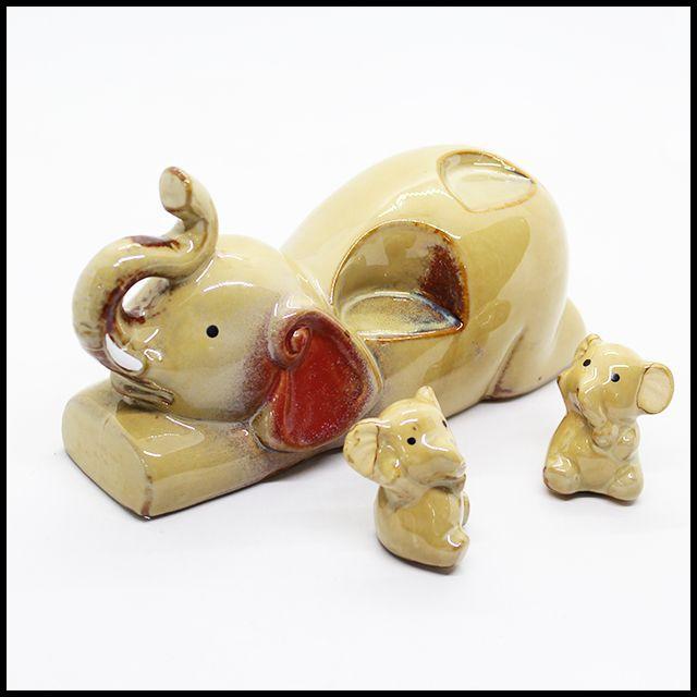 OT 아기코끼리 3P 세트 인테리어소품 장식품 집들이선물 도자기장식품 빈티지 거실