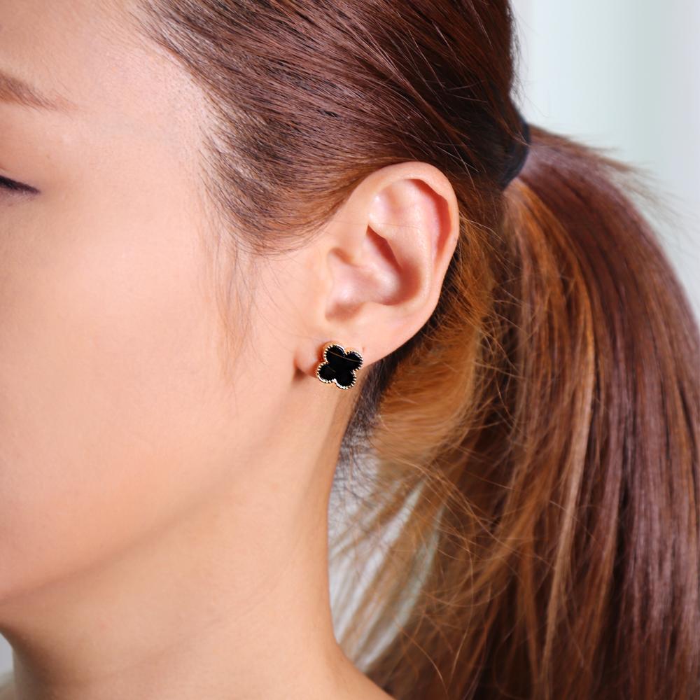 (러브재인) 명품스타일 귀걸이 클로버 심플