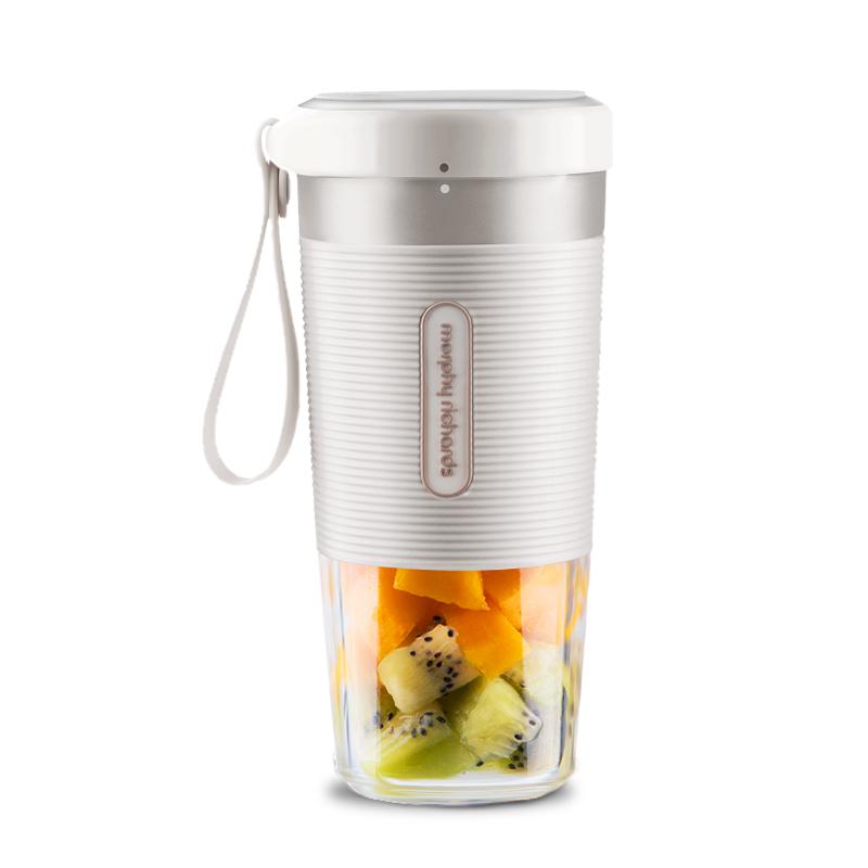 믹서기 모피리처드 컵식 휴대용 착즙컵 휴대 편리함 핸드형 컵형 주서기 과즙기, T02-화이트+증정전자 레서피
