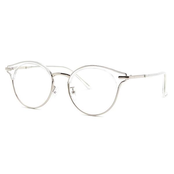 교복몰 shine 투명 슬림 반뿔테 안경 뿔테 패션안경 안경테