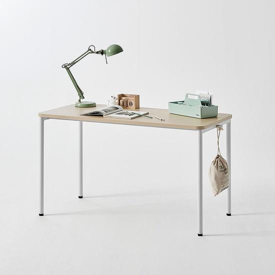한샘 티오 일반 책상 120cm(컬러 택1), 색상:내추럴오크/다크그레이(B)