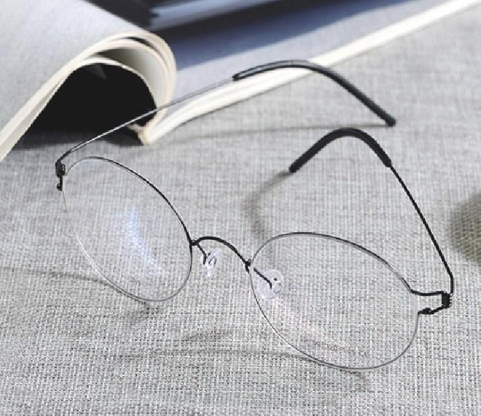 BRAND 초경량 티타늄 린드버그 디자인 금속 대통령 안경테