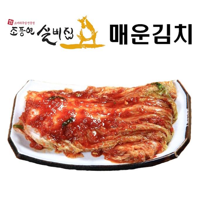 조풍연매운실비김치 대전 월평동 40년 전통의 조풍연 매운 실비김치, 1팩, 4kg