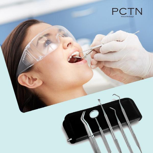 PCTN 치과치아스케일링 가정용 셀프치과기구거울 의료용치석제거기, 1box, 치석제거기