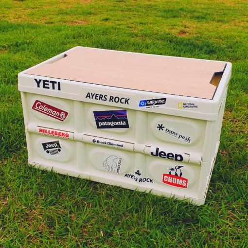 에어즈락 캠핑테이블 캠핑폴딩박스, 01. 베이직 티크 + 박스 레드