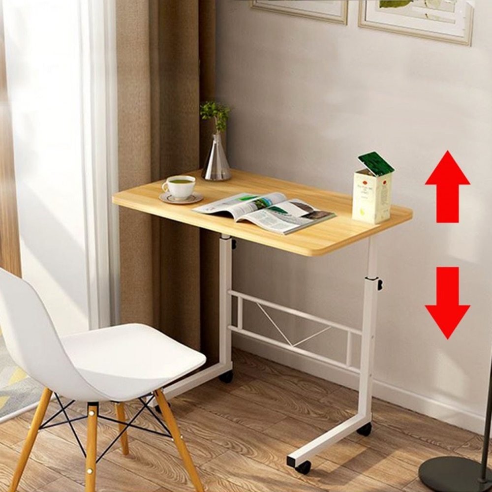 이동식 사이드 침대 소파 틈새 식탁 높낮이조절 간이 바퀴달린 보조 테이블 책상, 5. 멀티테이블(높이조절) 대 - 브라운