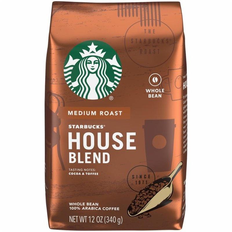 스타벅스 하우스 블렌드 리치 & 라이블리 커피 미디엄, 340g, 홀빈(분쇄안함)