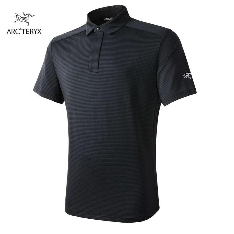vejama Arcteryx 아크테릭스 남성 등산 여름 스포츠 캐주얼 비즈니스 속건 통기 티셔츠 칼라 넥 ve08