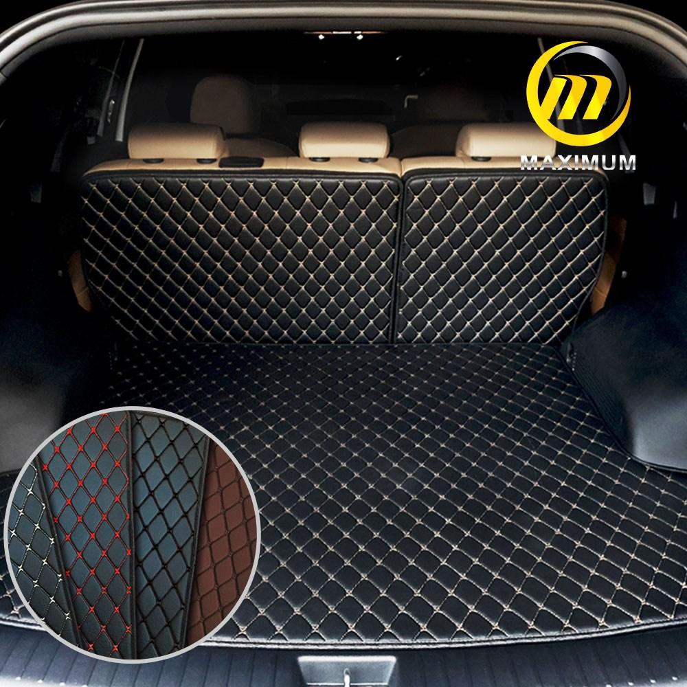 맥시멈 4D 가죽 트렁크매트, 일체형, 블랙-레드