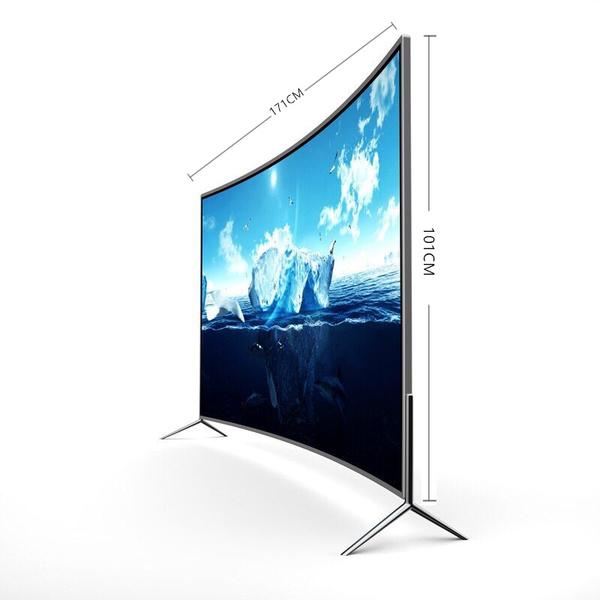 태블릿 액정 TV55inch32선명한 4K60네트워크 65스마트 wifi곡면 50OLED75가정용 43테블릿피시, 표면 방폭형 90 인치 4K 온라인 버전