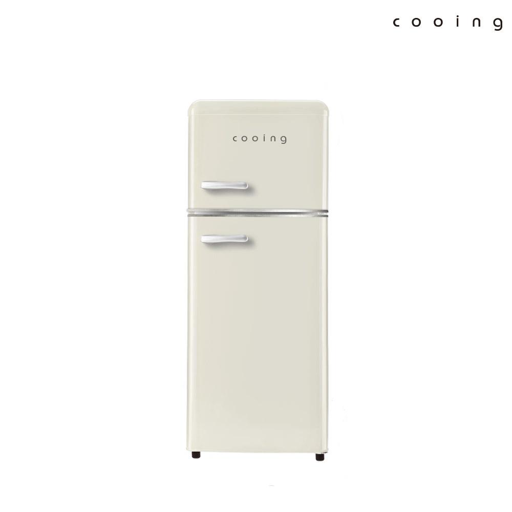 쿠잉 북유럽형 레트로 냉장고 REF-D121C 쿠잉/소형/미니, 단품