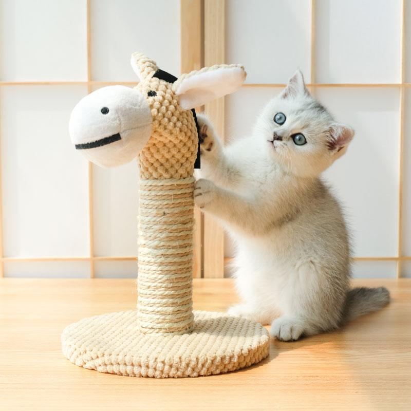 미래물 고양이 기둥 잡기 올빼미 장난감ZZW, 1개, 베이지A1