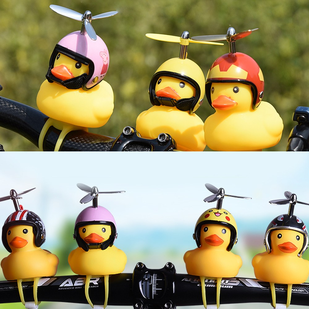 UNIQBLE New 라이더 날개 헬멧 러버덕 라이트 경적 벨 자전거 전동 킥보드 유모차 씽씽카 오토바이 안전등 야간등 오리 전조등 악세사리, WC020 날개스파이더, 1개