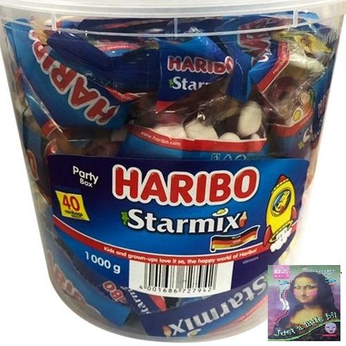 하리보 스타믹스 젤리 1kg 대용량+마스크팩1장 사은품 증정, 1통