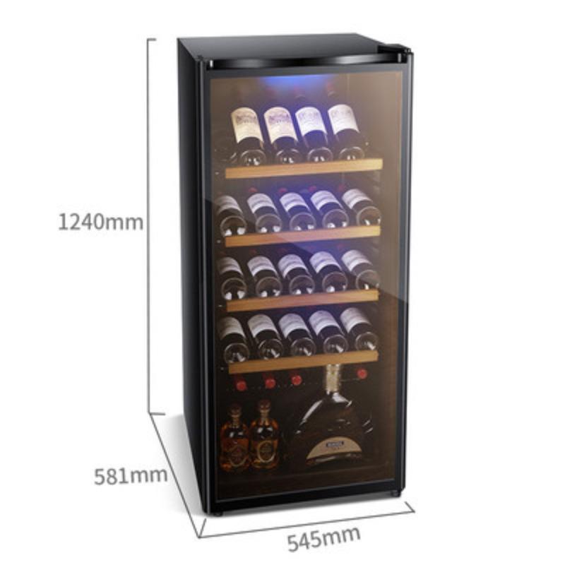 가정용술냉장고 술장고 미니냉장고 소주 음료수 미니쇼케이스 맥주 자취필수템, JC-215AD 블루 레이 완전 냉장