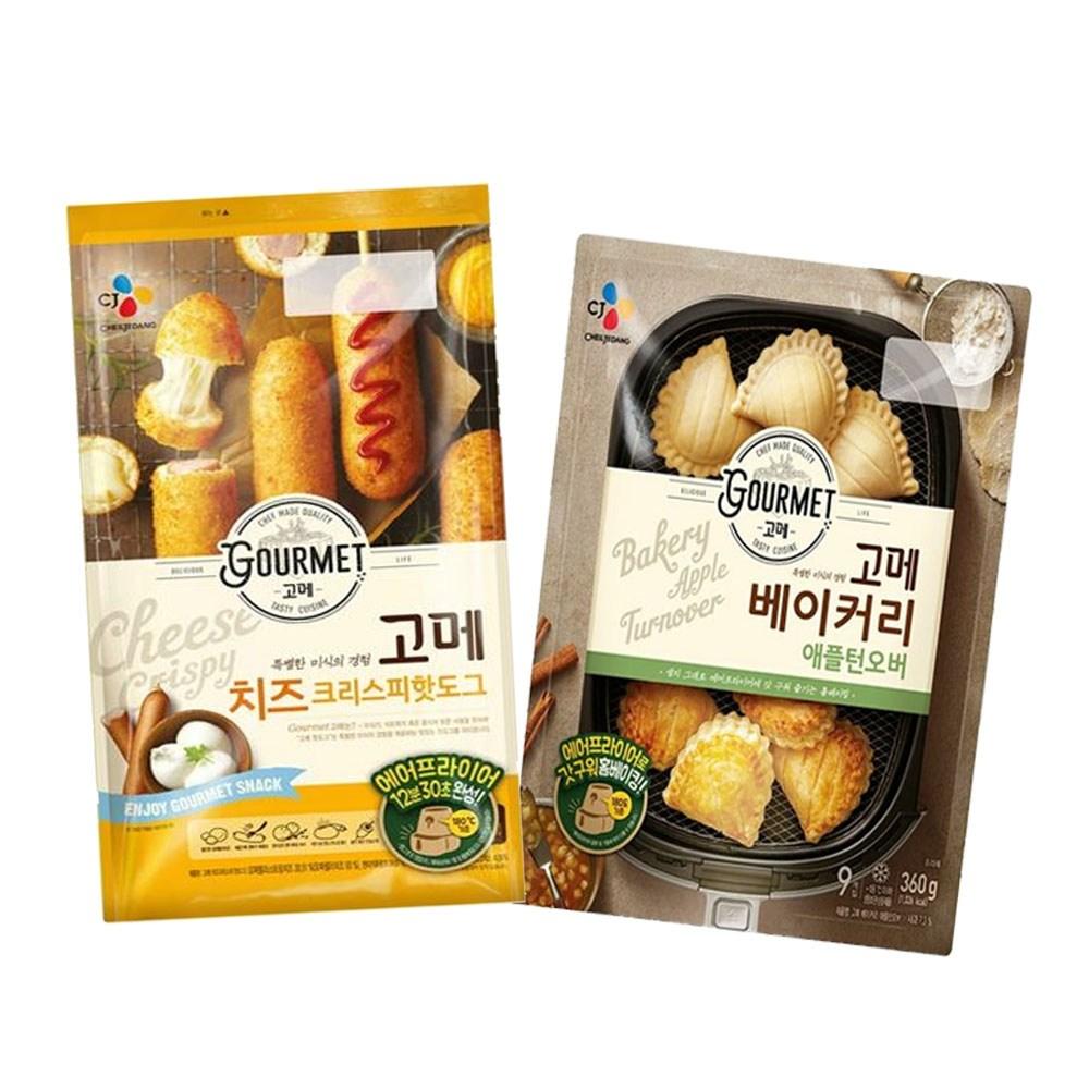 (냉동)고메 애플턴오버360gx1개+(치즈)크리스피핫도그425gx1개, 1세트