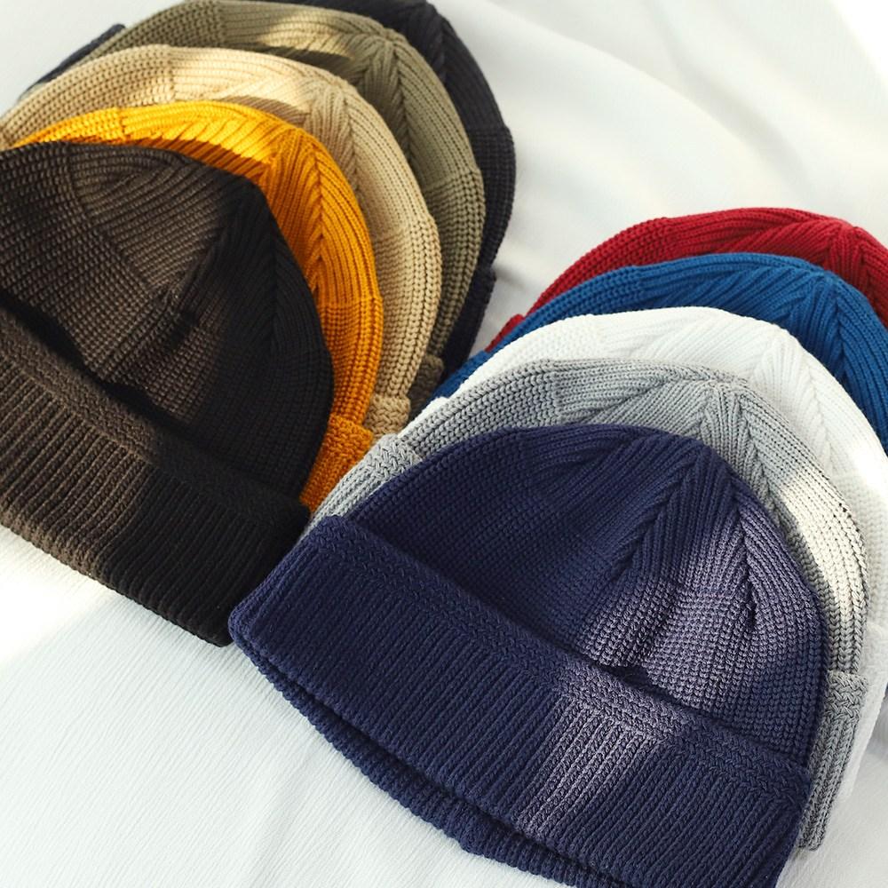 무지 면 숏비니 모자 남녀공용
