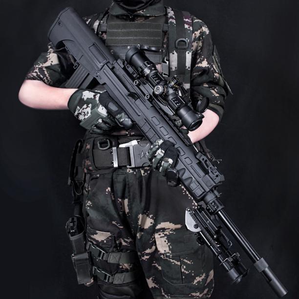 MDR QBU 88 지정사수 저격총 수정탄 젤리탄 리얼스케일, QBU (블랙)