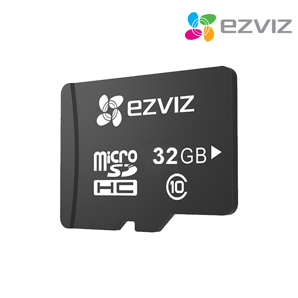 EZVIZ 가정용 홈CCTV IP네트워크 360도 회전형 카메라 C6C 아기모니터, EZVIZ 홈캠 전용 SD메모리 카드 32GB