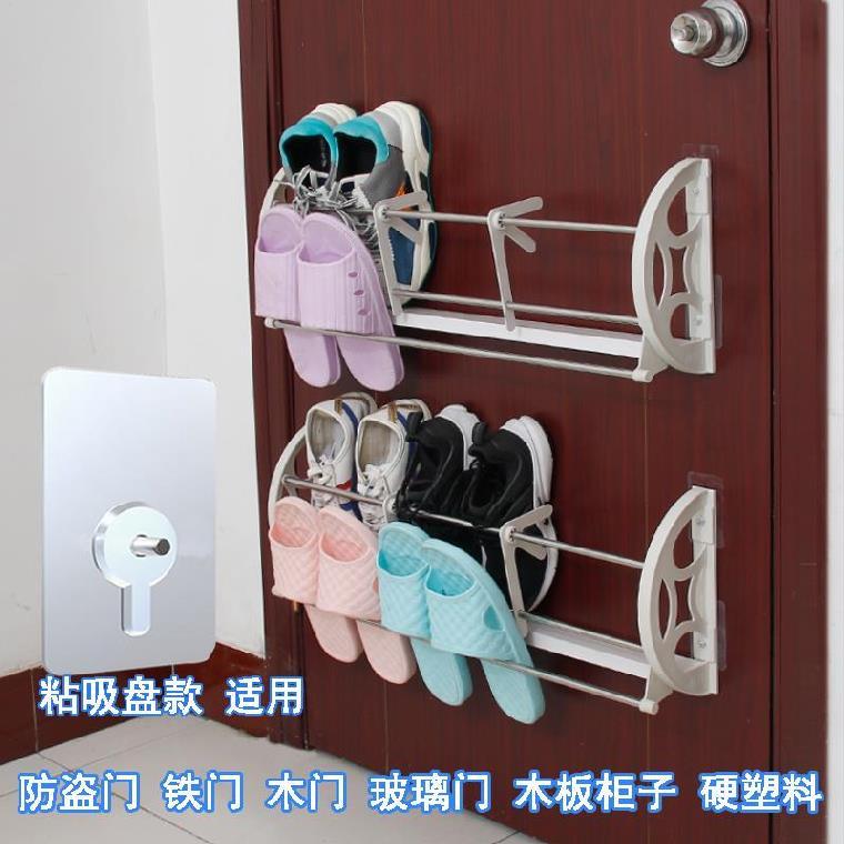 신발장 위 가정용 벽에거는식 샌들 슬리퍼 벽접착, T04-업그레이드 흡반 걸이식 신발장 2층