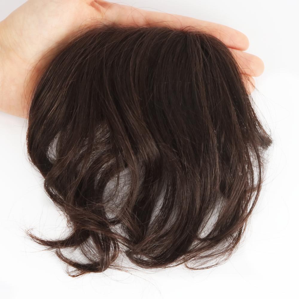 고운머리 인모 정수리가발 헤어뽕 부분가발 웨이브 대형 BBM05, 없음, #1B 내츄럴블랙