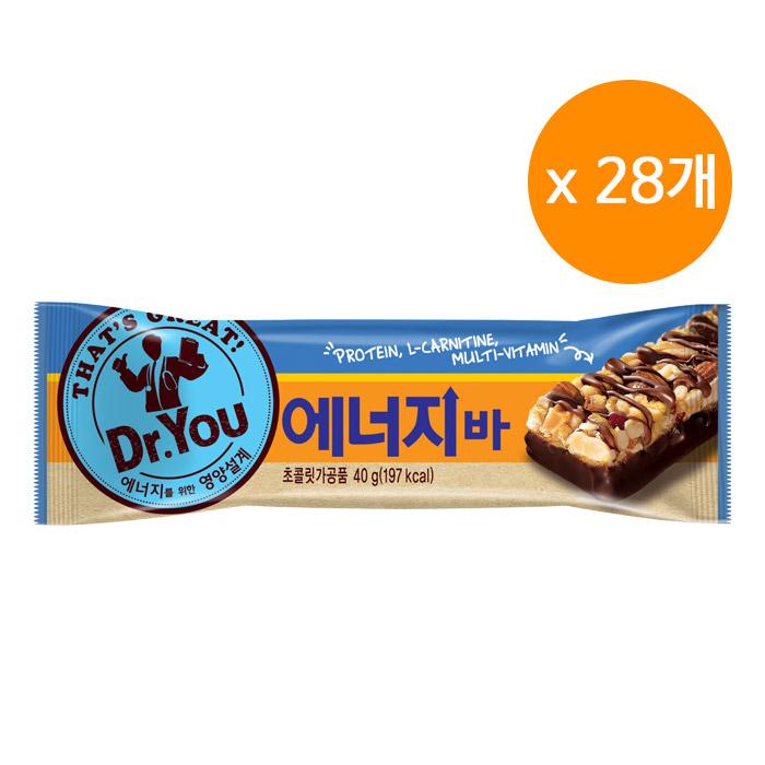 오리온 닥터유 에너지바, 40g, 28개