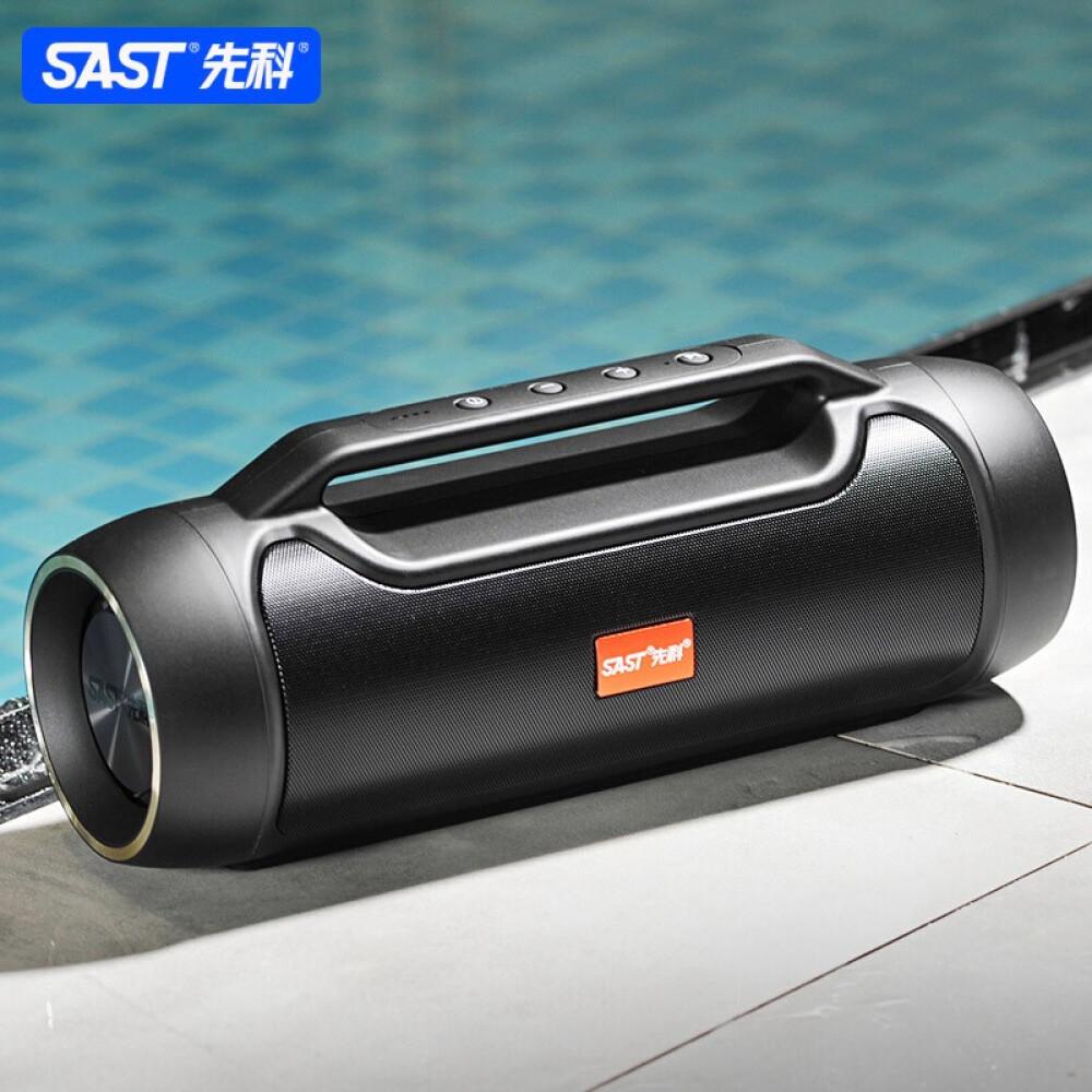 SAST 선과 (SAST) V8 블 루 투 스 스피커 24W 고성능 무선 휴대용 플레이어 컴퓨터 옥외 광장 무용 저음 포 고음 성 음향 블랙 + 배달 가방 오디 오 라인