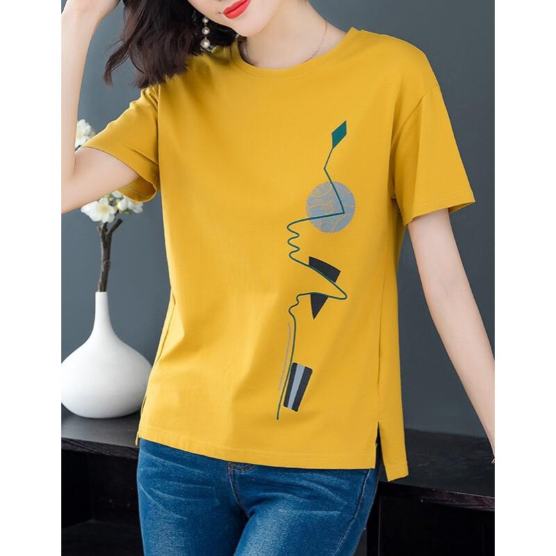 [온라인 배 송 무료] 2020 D 반팔 와 일 드 티셔츠 옐 로 우 L (위 챗 결제 지원)