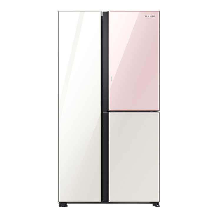 SAMSUNG 양문형 3도어 냉장고 846L RS84T50716C 디지털 인버터 컴프레서/더블냉각/히든핸들 (POP 4738229479)