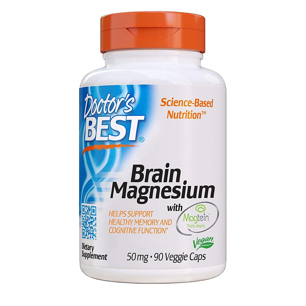 Doctors Best Brain Magnesium with Magtein 닥터스베스트 브레인 마그네슘 50mg 90베지캡슐, 1개, 90개입