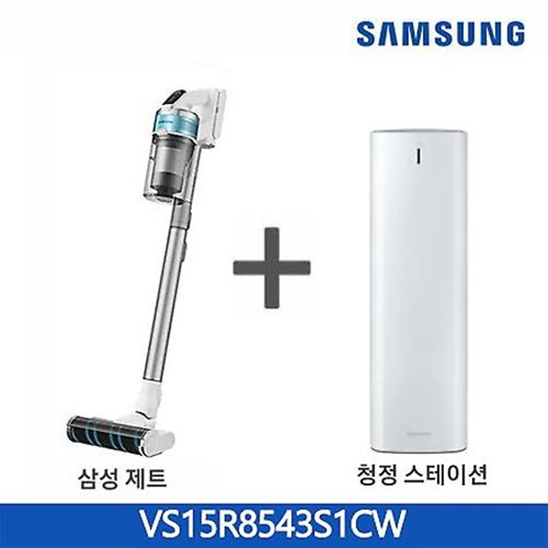 삼성전자 제트 무선청소기 VS15R8543S1CW 청정스테이션(화이트), 화이트
