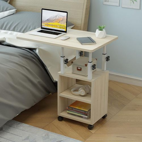 수납 침대옆 노트북 테이블 사이드 이동식 백목60mm, 단품