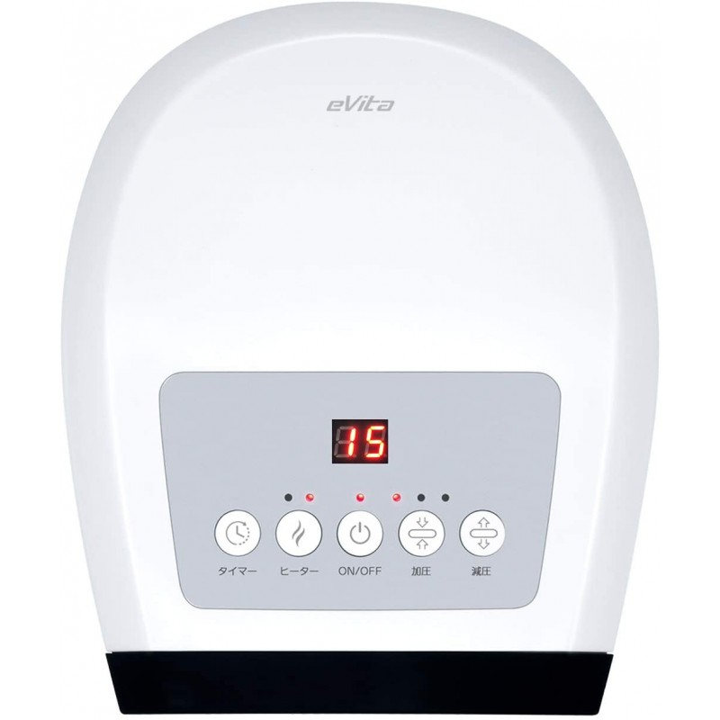 Evita Electric Heated Hand Palm Finger Massager 기압이있는 지압 마사지 기계 무선 및 LCD 디스플레이 손가락 스트레인 선, 단일옵션, 1 (POP 5810380305)