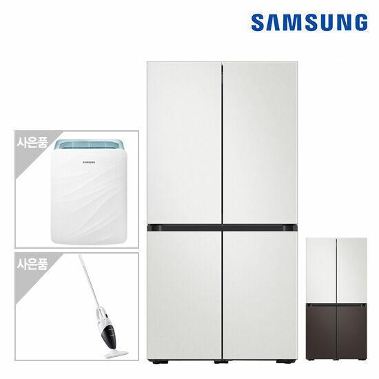 삼성 비스포크 냉장고 4도어(코타) RF85T9003AP+삼성공기청정기+청소기, 색상:코타화이트+차콜