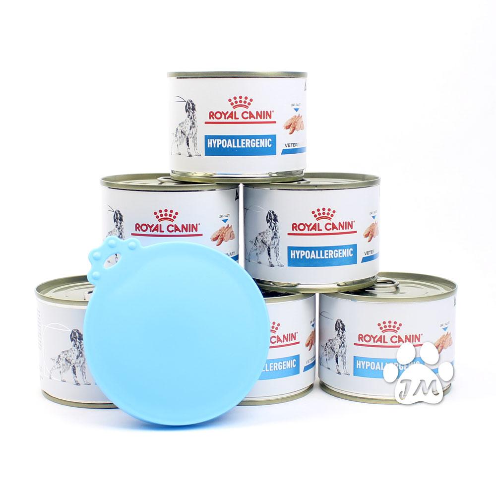 로얄캐닌 독 하이포알러제닉 캔 200g 6개 + 실리콘커버