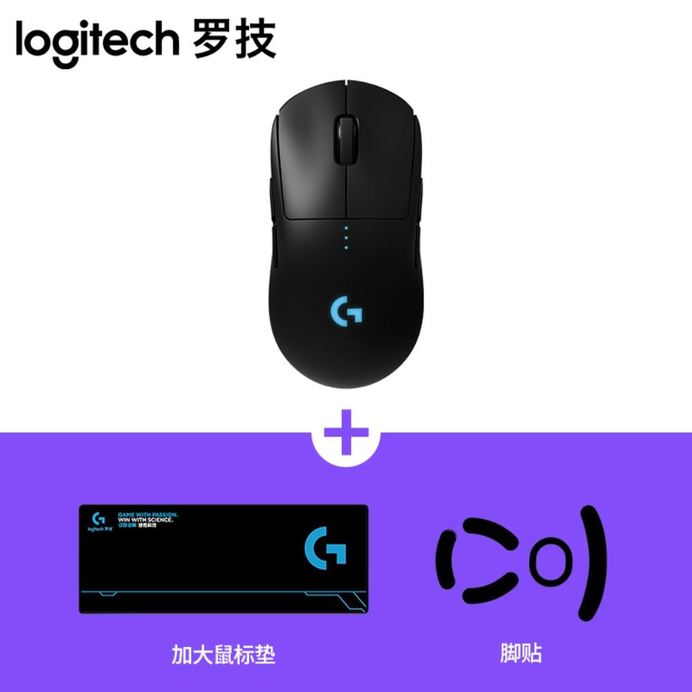 로지텍 G PRO 무선 게이밍 게임용 마우스 M-R0070, 표준, G PRO 마우스 + 테이블 매트 + 발 스티커