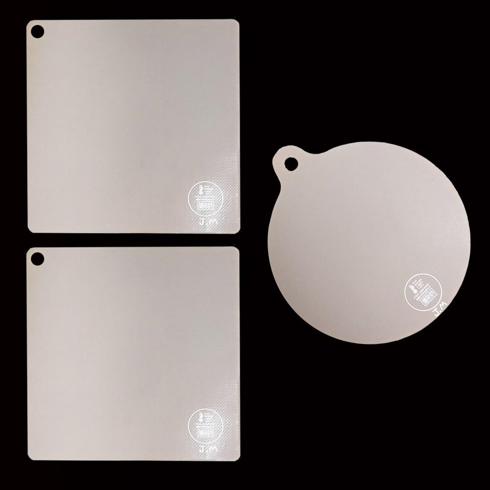 JM 인덕션매트 3개 원형 사각 인덕션보호매트, 원형1개+정사각형2개
