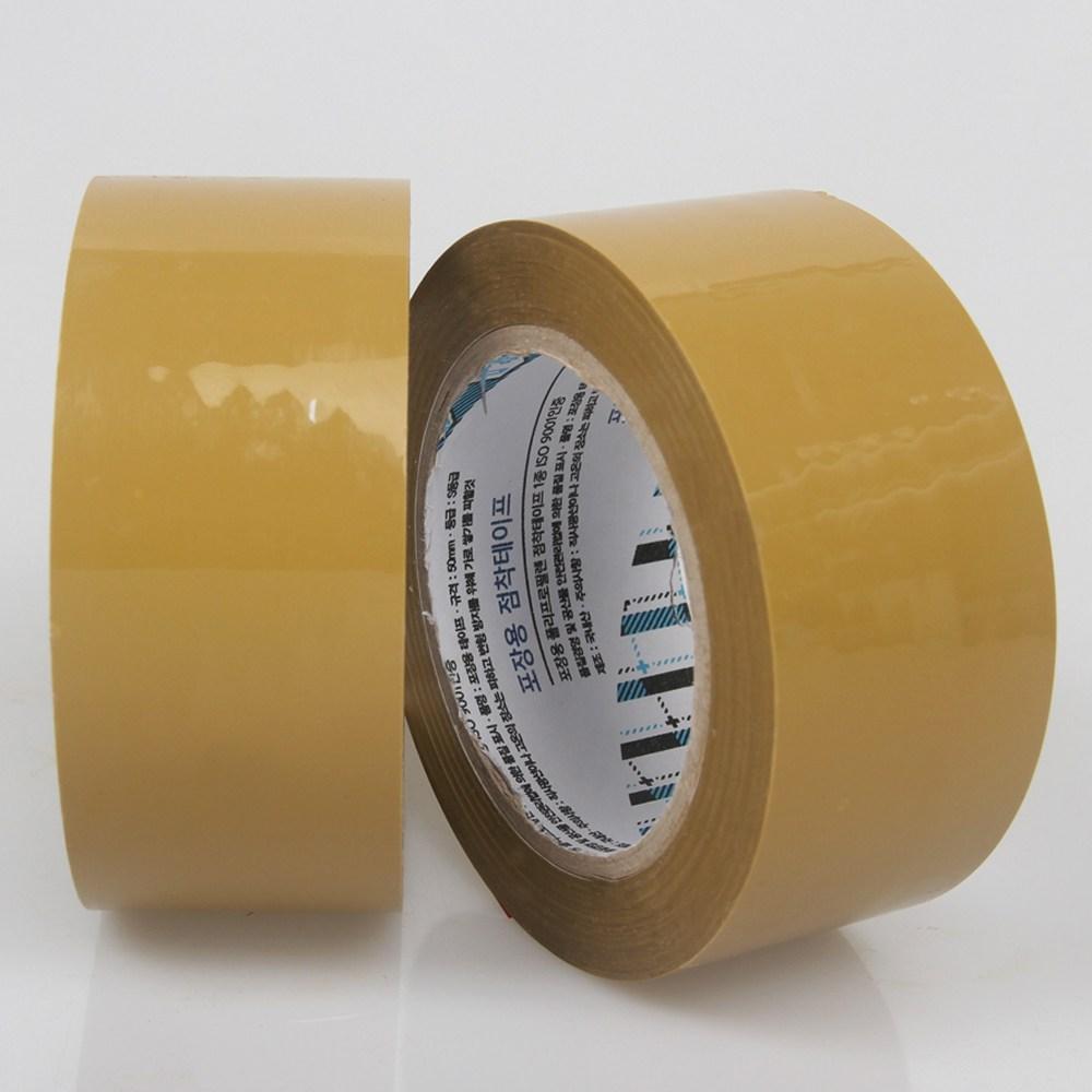 우림 박스테이프 더블경포장 황색 80M 1BOX, L40-더블경포장(80Mx40개)황색 (POP 10762872)