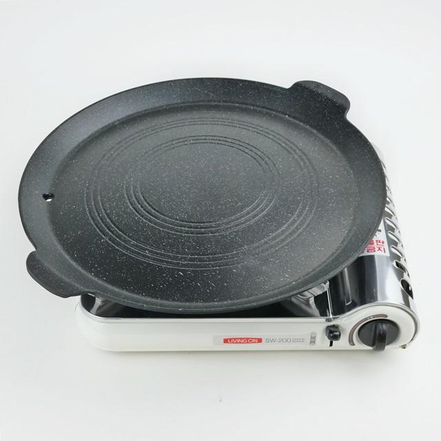 임페리얼 원형 고기 불판 솥뚜껑 삼겹살 구이 팬 업소용 가정용 캠핌용, 1개, 지름 36cm