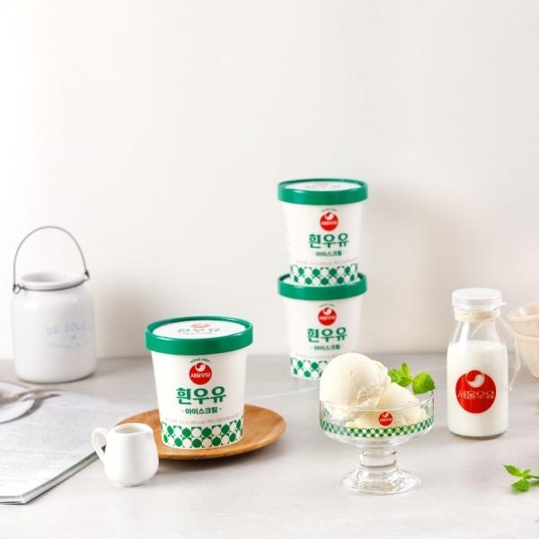 [서울우유] 서울우유 아이스크림 흰우유X3개, 단품