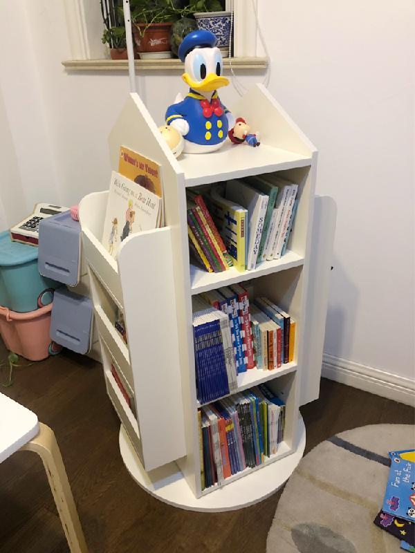유아회전책장 유아책꽂이 아기전면책장 아기방책장 회전 아기책장, 그린핑크