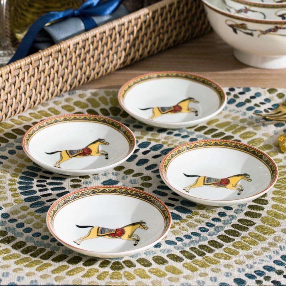 고급 명품 스타일 접시 세트, 3인치 접시개